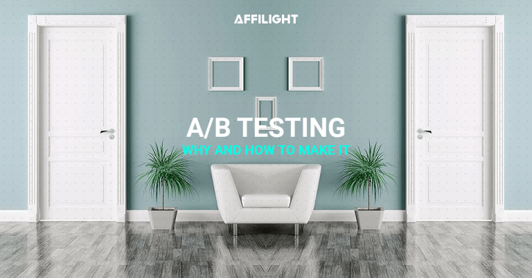 AB testing landing page A/B test