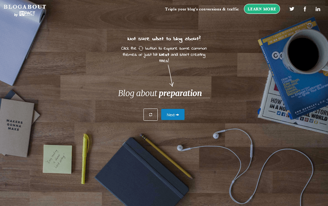Topic Generator as Your Muse of Inspiration